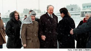 Sten Andersson och Arafat