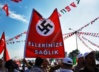 Ship to Gaza och hakkorsflaggan